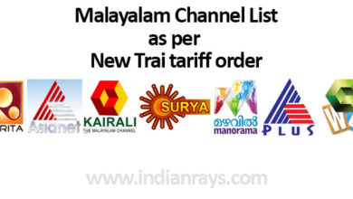 Malayalam Channel List as per New Trai tariff order