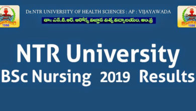 Photo of NTR University of Health Sciences BSc Nursing 2019 Exam Results
