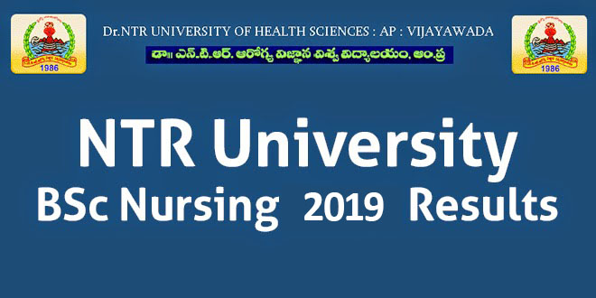 NTR University BSc Nursing 2019 Results