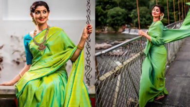 Photo of Divya Unni Latest Photoshoot in Green Saree