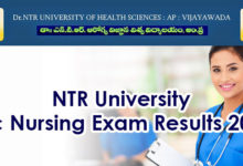 Photo of NTR University of Health Sciences BSc Nursing 2020 Exam Results