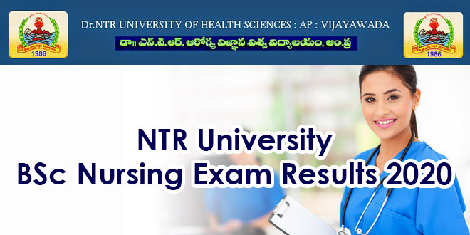 NTR University BSc Nursing Exam Results 2020