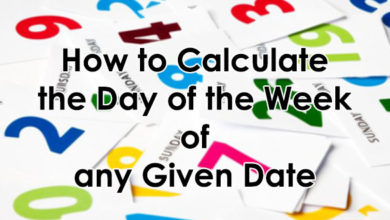 How to Calculate the Day of the week of any Given Date
