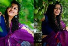 Photo of Kerala Model Gilu Joseph Photo in Purple Saree