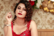 Photo of Anusree Latest Photoshoot in Red Gown
