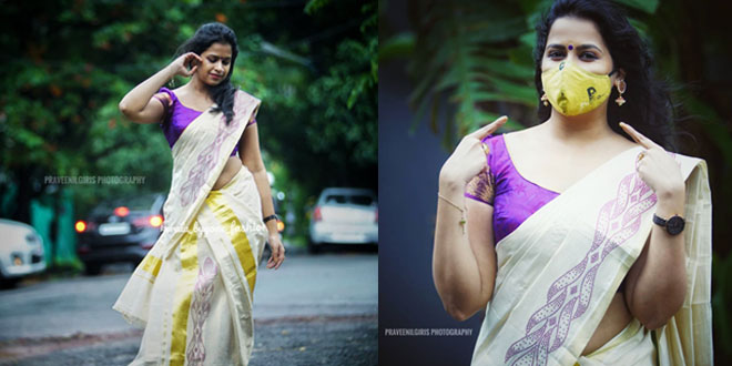 Sadhika Venugopal latest photoshoot in Kerala Saree