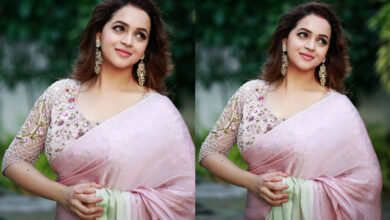 Photo of Malayalam Actress Bhavana Latest Photoshoot in Saree