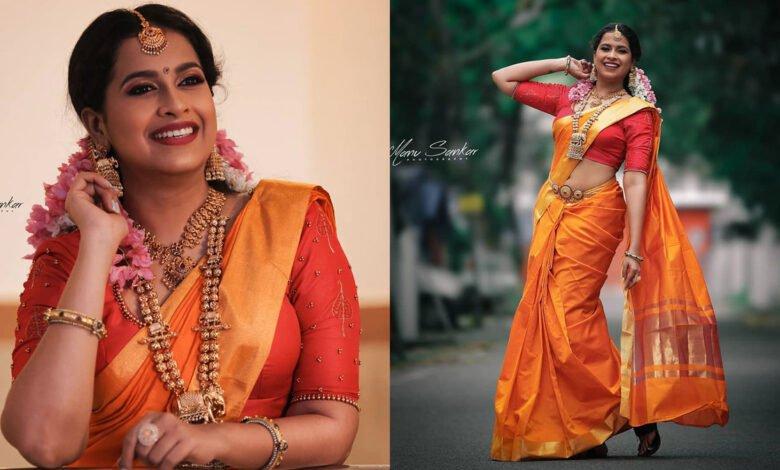 Sadhika Venugopal Latest Viral Photoshoot in Saree