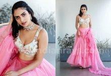 Amala Paul Photos in Pink Saree